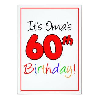 Oma's 60th Milestone Birthday Party Celebration Card