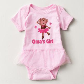 Oma's Girl Grandchild Monkey Ballerina Tutu Tee