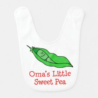Oma's Little Sweet Pea Bib