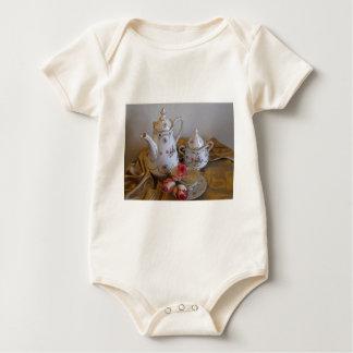 Oma's Tea Set Baby Bodysuit