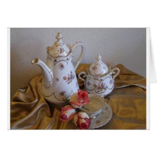 Oma's Tea Set Card