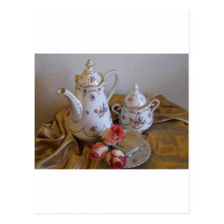 Oma's Tea Set Postcard