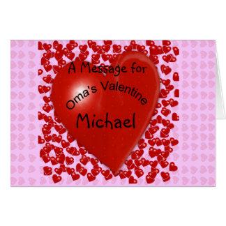 Oma's Valentine Message Card