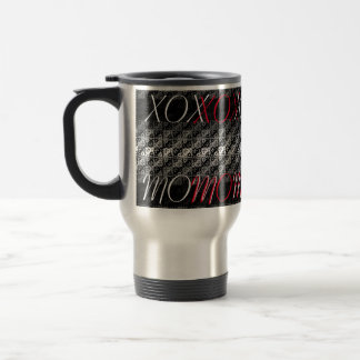 Ombre Black and White Cute Travel Mug for Mom