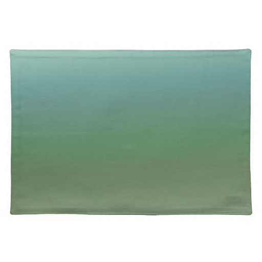 Ombre Blue Green Sea Place Mat