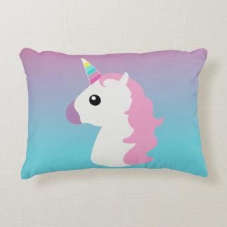 Ombre Emoji Unicorn Pillow