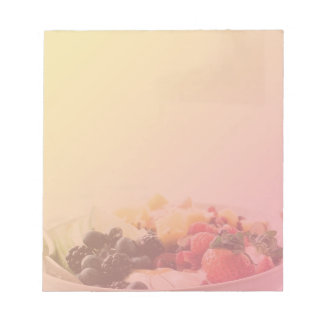 Ombre Fruit Bowl Breakfast Food Snack Nutrition Notepad