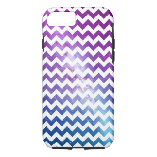 Ombre Galaxy Nebula with White Chevrons iPhone 7 Case