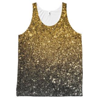 Ombre glitter sparkling All-Over print singlet