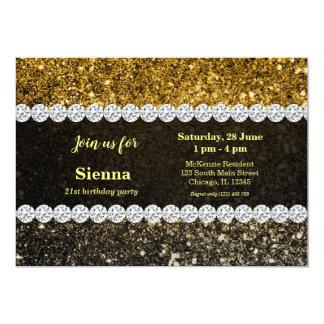 Ombre glitter sparkling card