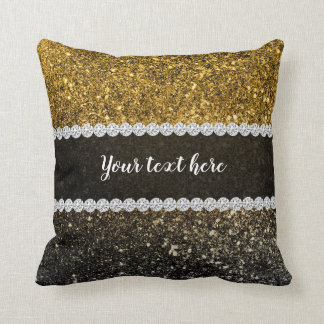 Ombre glitter sparkling cushion