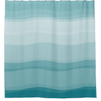 Ombre Gradient Pattern Shower Curtain