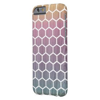 Ombré Honeycomb Wood iPhone Case