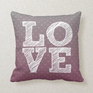 Ombre Love Throw Pillow in Opal