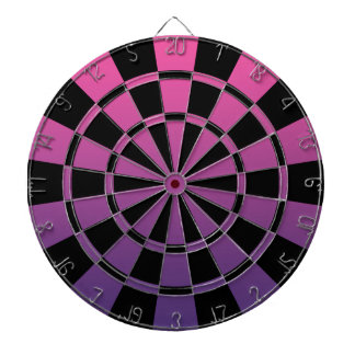 Ombre Pink Purple And Black Dartboard