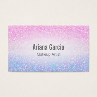 Ombre Pink Purple Glitter Iridescent Business Card