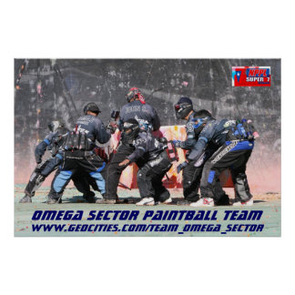 OMEGA SECTOR PAINTBALL TEAM 2006 POSTER