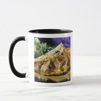 Omelette with dill and vegetables in the mug