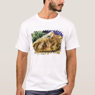 Omelette with dill and vegetables in the T-Shirt