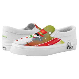 OMG! Funky Snowman Christmas2 Slip-On Shoes
