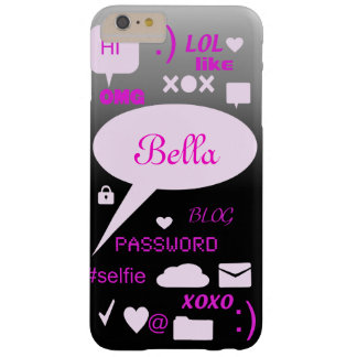 """""""OMG, LOL, HI"""" -personalised and customised case Barely There iPhone 6 Plus Case"""