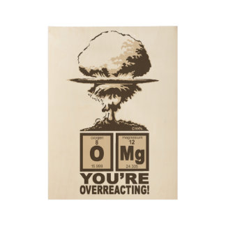 OMG! You are overreacting! Wood Poster