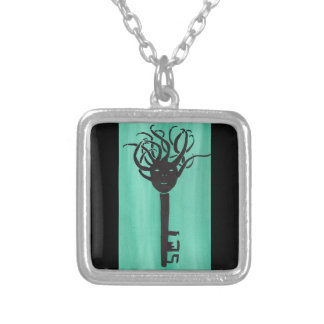 Ominous Key Silver Plated Necklace