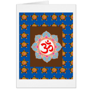 OmMANTRA Mantra Art Temple Hinduism Buddhism Bless Card