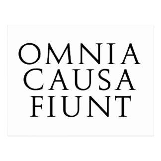 Omnia Causa Fiunt Postcard
