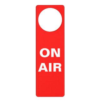 On AIr recording door knob hanger sign