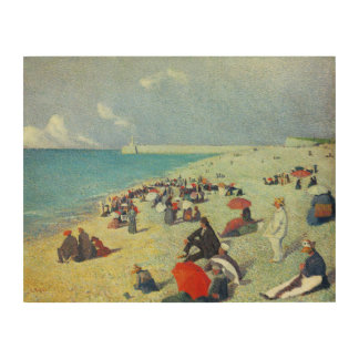 On The Beach Wood Canvases