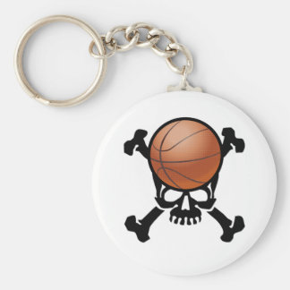On the Brain (basketball) Basic Round Button Key Ring