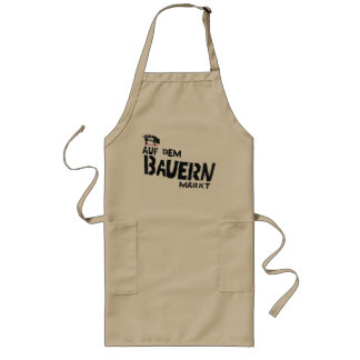 On the farmer's market apron