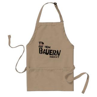 On the farmer's market apron