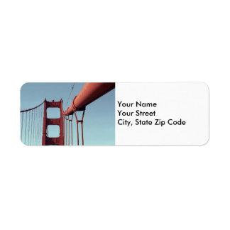 On The Golden Gate Bridge return address label
