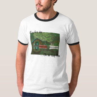 'On The Lazy River' Men's Tee-Short Sleeve Border Tee Shirt