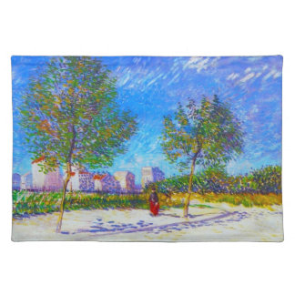On the Outskirts of Paris by Vincent Van Gogh Placemat
