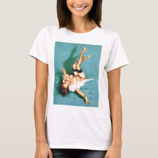 On the Phone - Vintage Pin Up Girl T-Shirt
