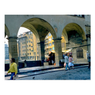 On the Ponte Vecchio, Firenze, Florence Postcard