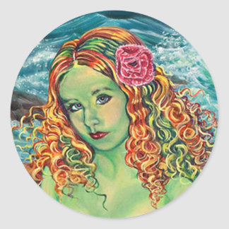 """On The Rocks"" Kathi Dugan Large Sticker"