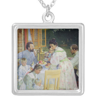 On the Terrace, 1906 Silver Plated Necklace