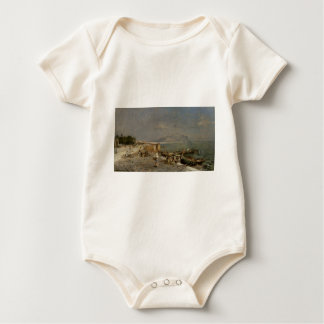 On The Waterfront at Palermo by Franz Richard Baby Bodysuit