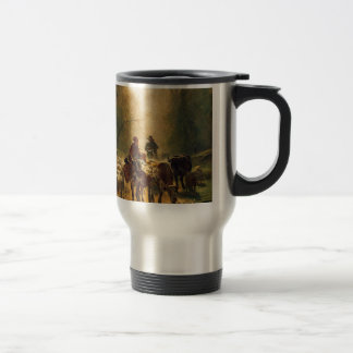 On the Way to the Market by Constant Troyon Stainless Steel Travel Mug