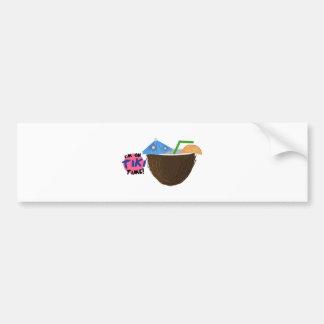 On Tiki Time Bumper Sticker