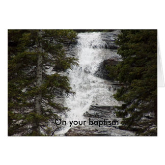 On your baptism greeting card