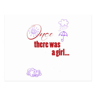 Once There Was A Girl - Embellished with Weather Postcard