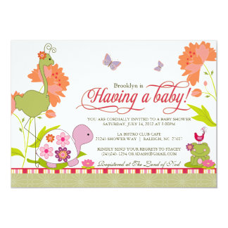 Once Upon a Pond Baby Shower Invitation