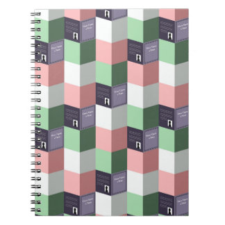 Once Upon a Time Pastel Book Pattern Notebook