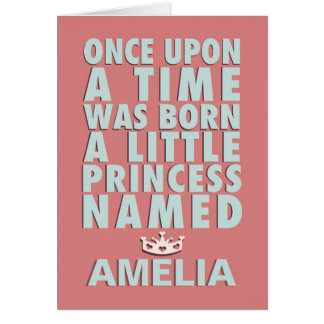 Once Upon A Time - Princess Papercut Style Card