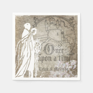 Once Upon a Time Wedding Paper Napkins